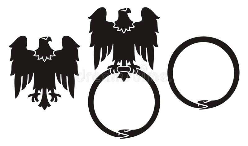 orła ouroboros wąż royalty ilustracja