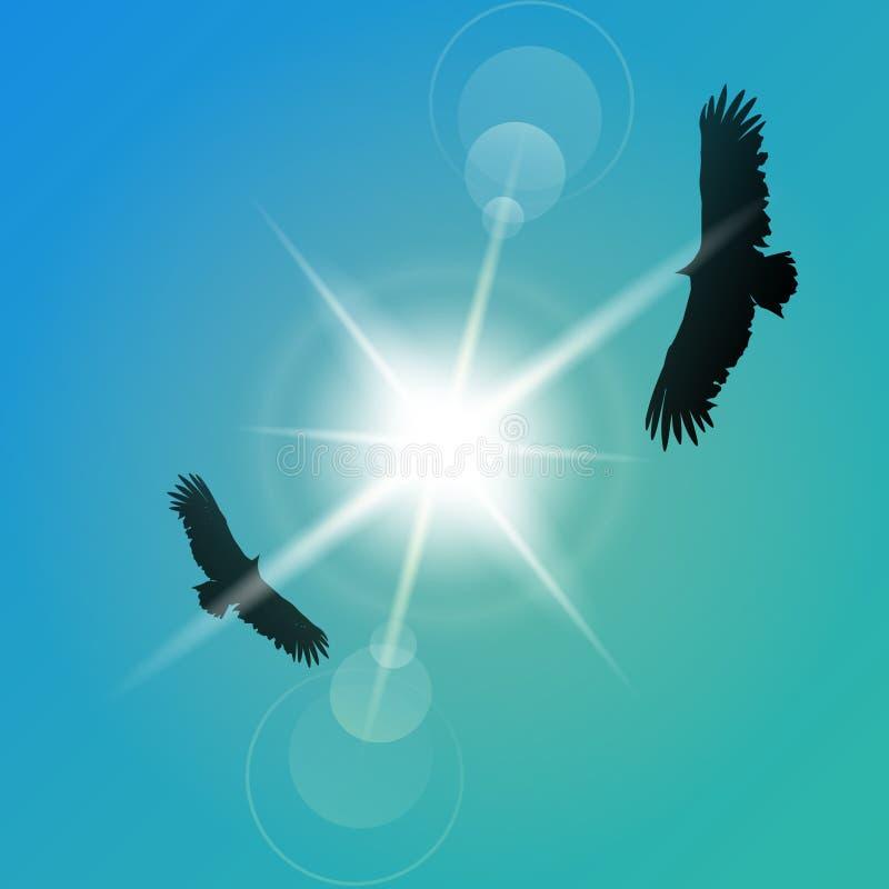 orły royalty ilustracja