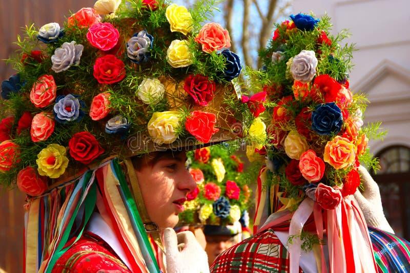 Orač i Carnaval Maskers stock fotografie