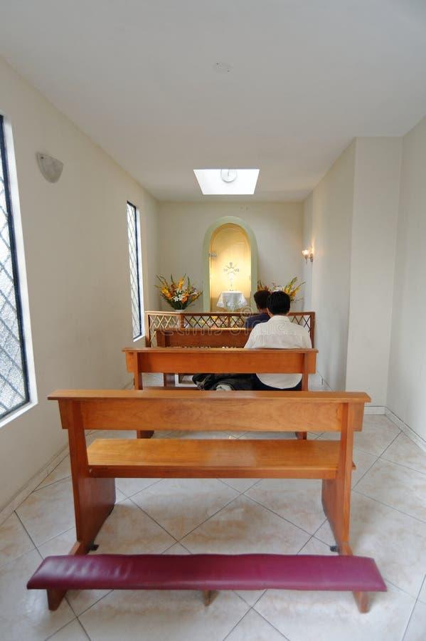 Oração da capela imagens de stock