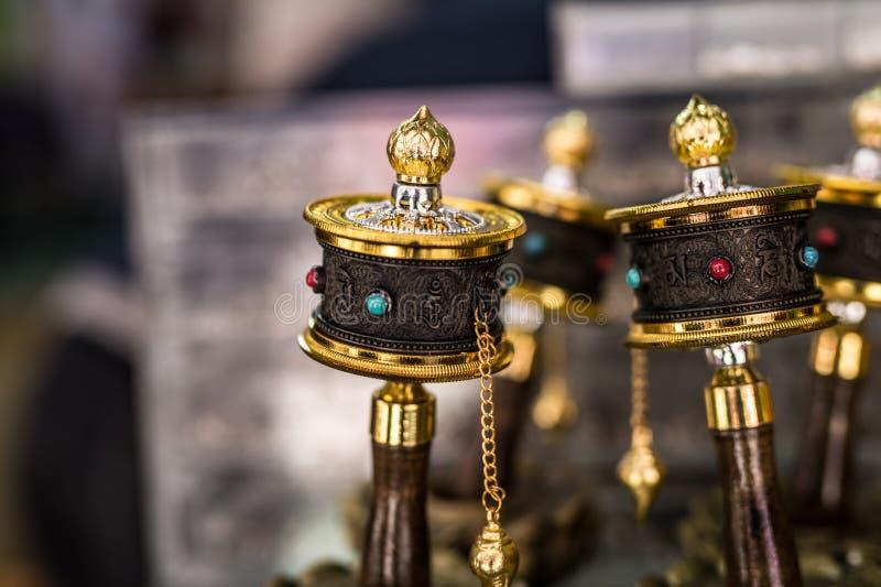 A oração da lembrança roda dentro Tibet fotografia de stock