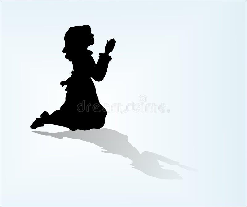 Oração de Childs ilustração stock