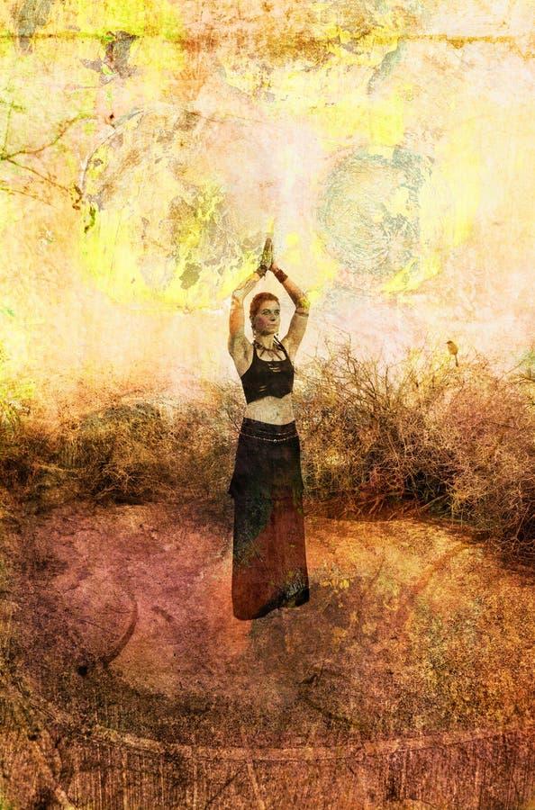 Oração de Prana ilustração royalty free