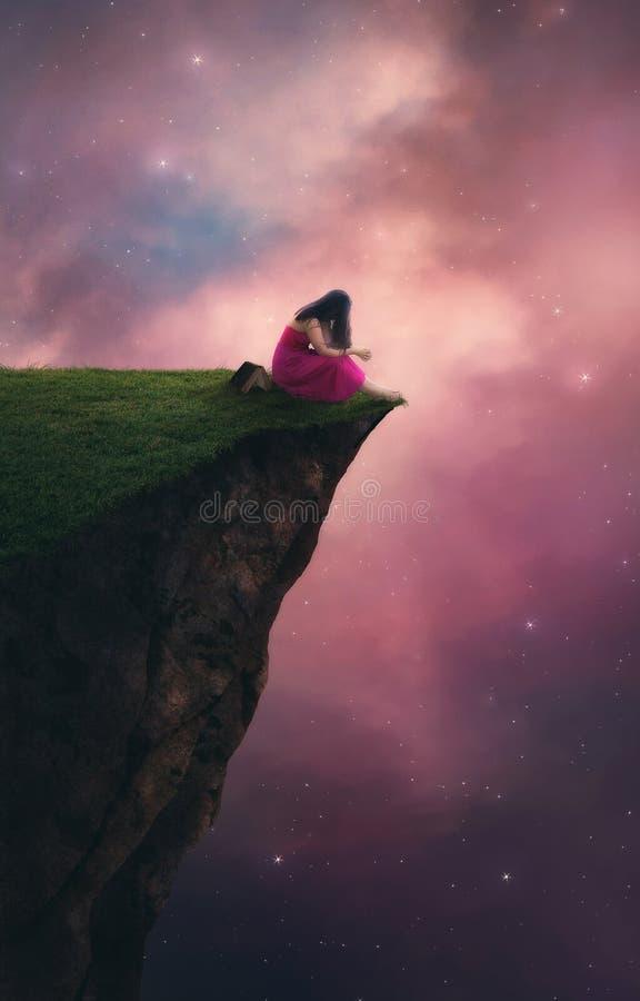 Oração do céu noturno fotografia de stock royalty free