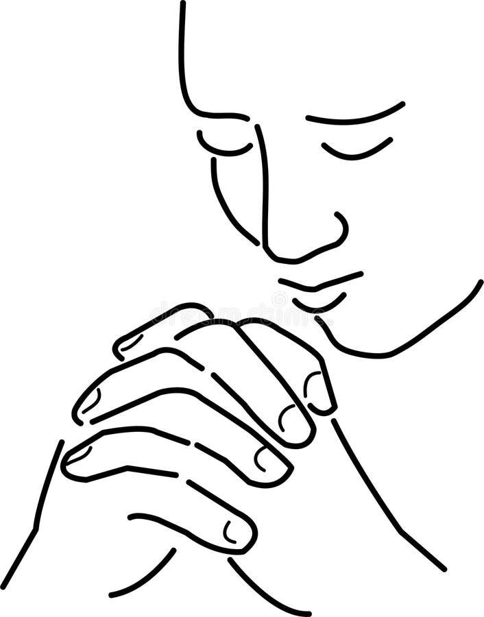 Oração e meditação ilustração do vetor