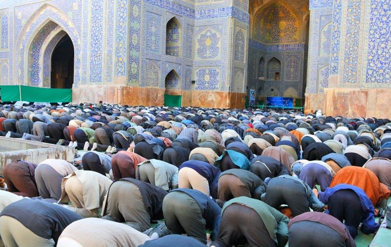 Oração em massa muçulmana de sexta-feira imagem de stock