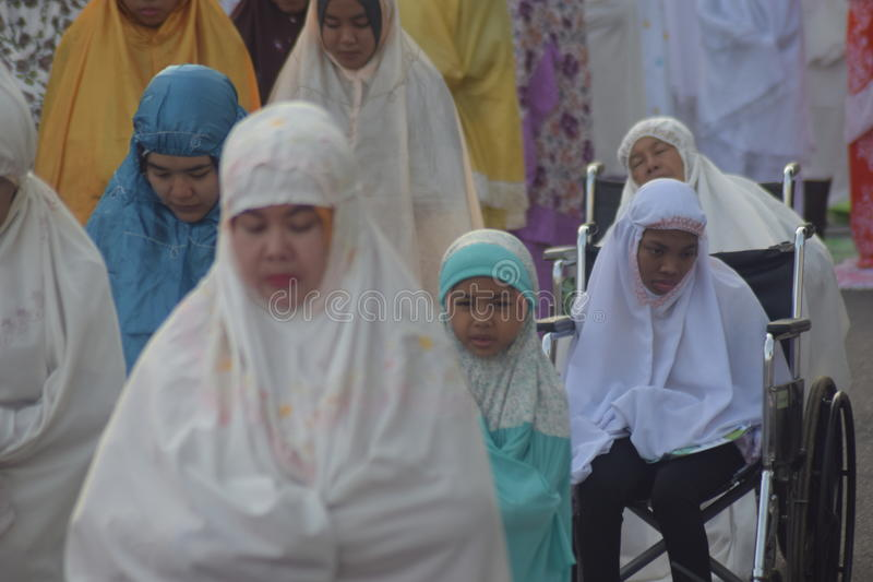 Orações de Eid al-Adha em Semarang imagem de stock