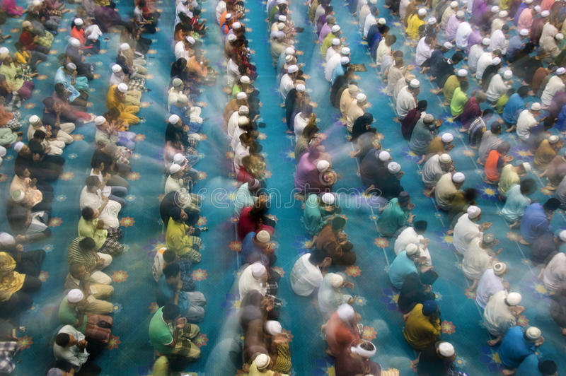 Orações de Tarawih imagem de stock