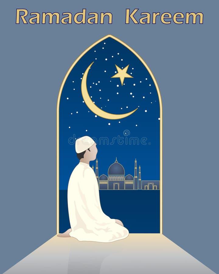 Orações em ramadan ilustração royalty free