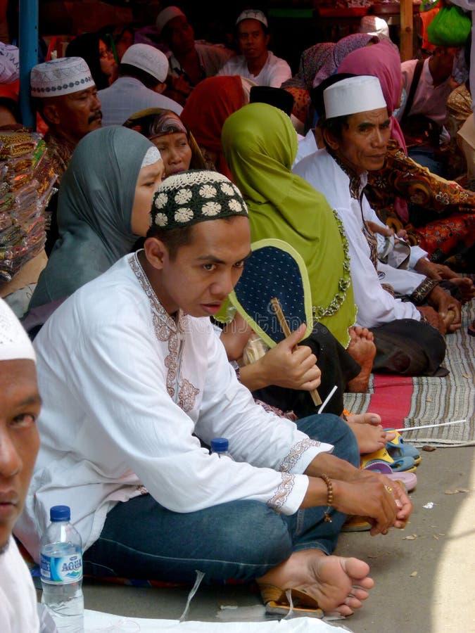 Orações muçulmanas foto de stock