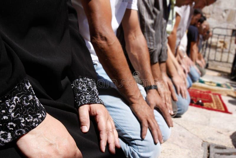 Orações no mês de Ramadan foto de stock
