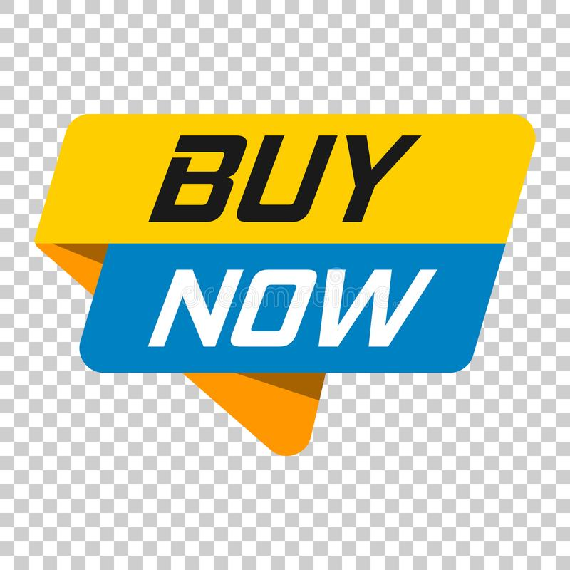 Ora compri l'icona del distintivo dell'insegna Illustrazione di vettore su trasporto isolato illustrazione di stock