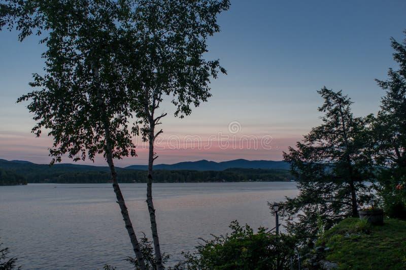 Ora del blu di Bomoseen del lago fotografie stock