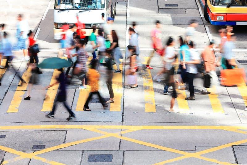 Ora di punta in Hong Kong al giorno fotografia stock libera da diritti