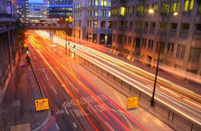 Ora di punta a Londra fotografie stock