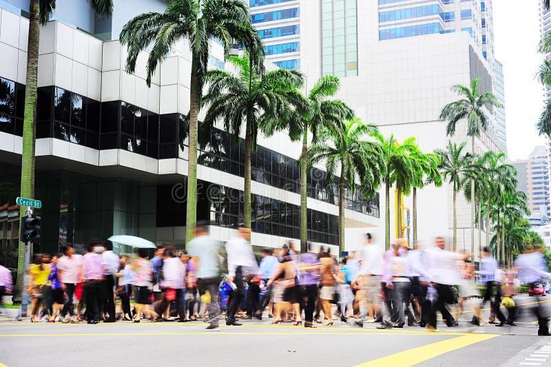 Ora di punta a Singapore fotografia stock libera da diritti