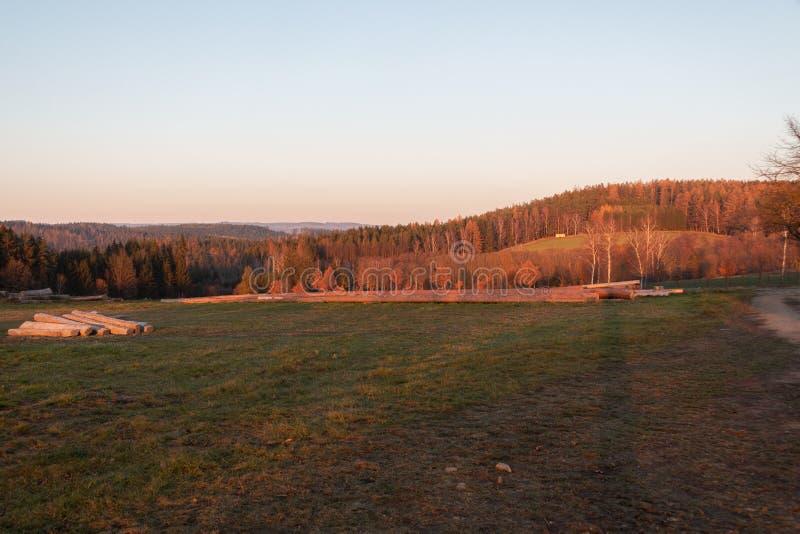 Ora dorata al tramonto fotografie stock libere da diritti