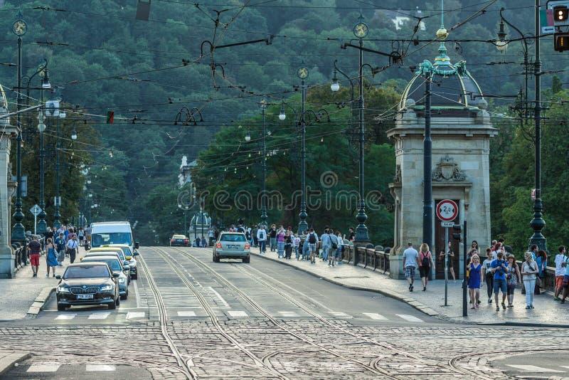 Ora dorata a Praga fotografia stock libera da diritti