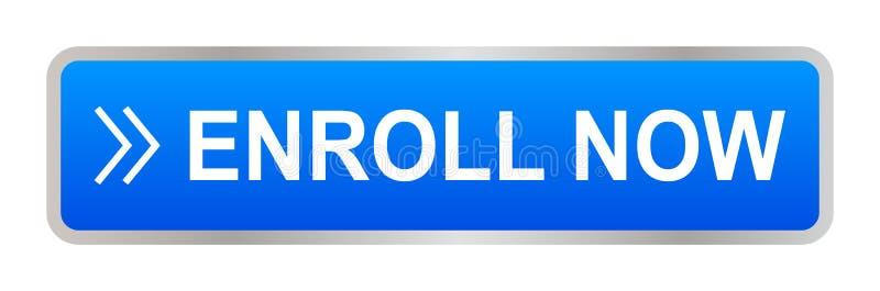 ora iscriva il bottone royalty illustrazione gratis