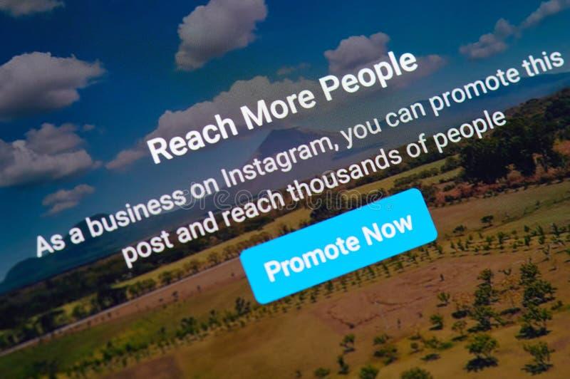 Ora promuova la posta del instagram fotografie stock