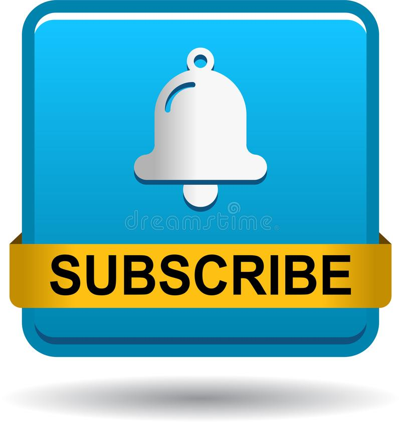 Ora sottoscriva il blu del bottone di web dell'icona illustrazione vettoriale