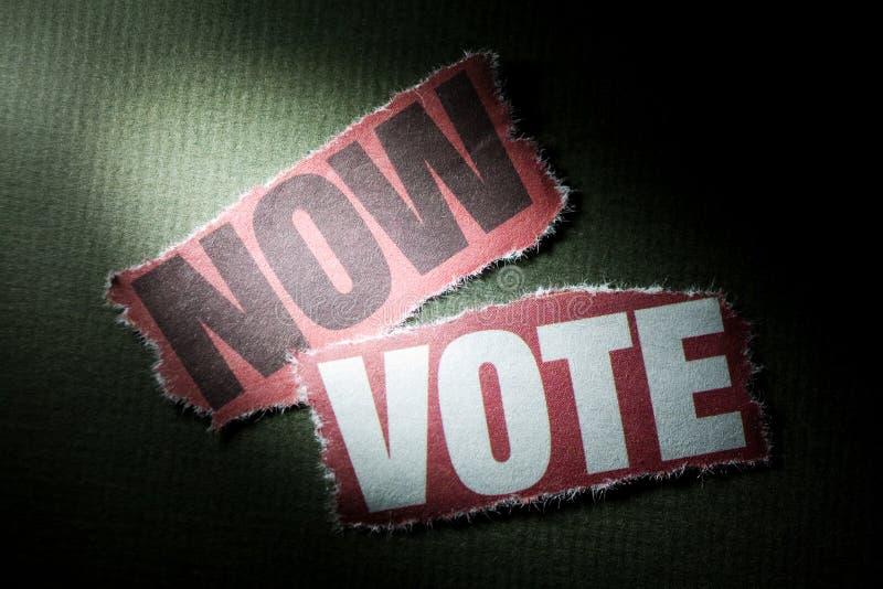 Ora voto fotografia stock libera da diritti