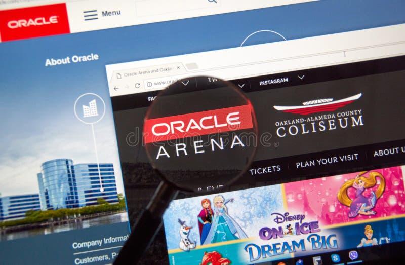 Oracle-Arenawebseite lizenzfreies stockfoto