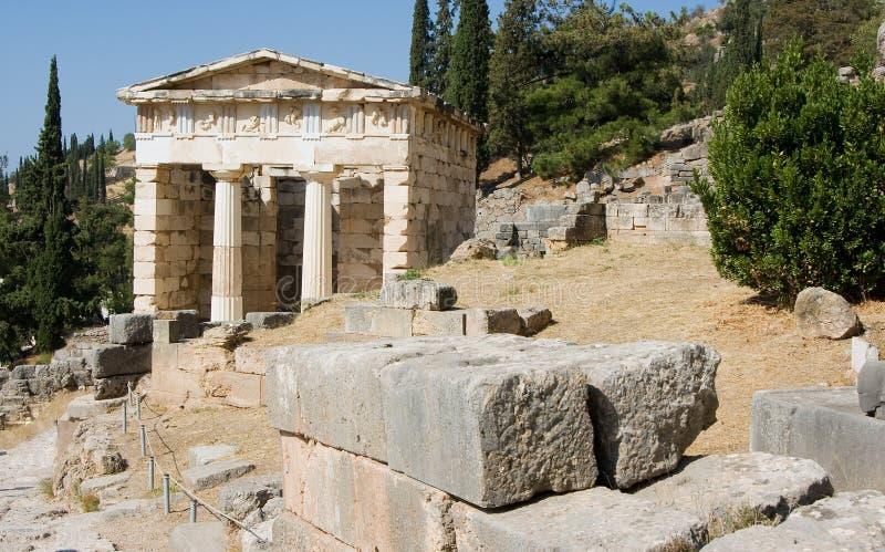 ORACLE Grecia di Delfi immagini stock libere da diritti