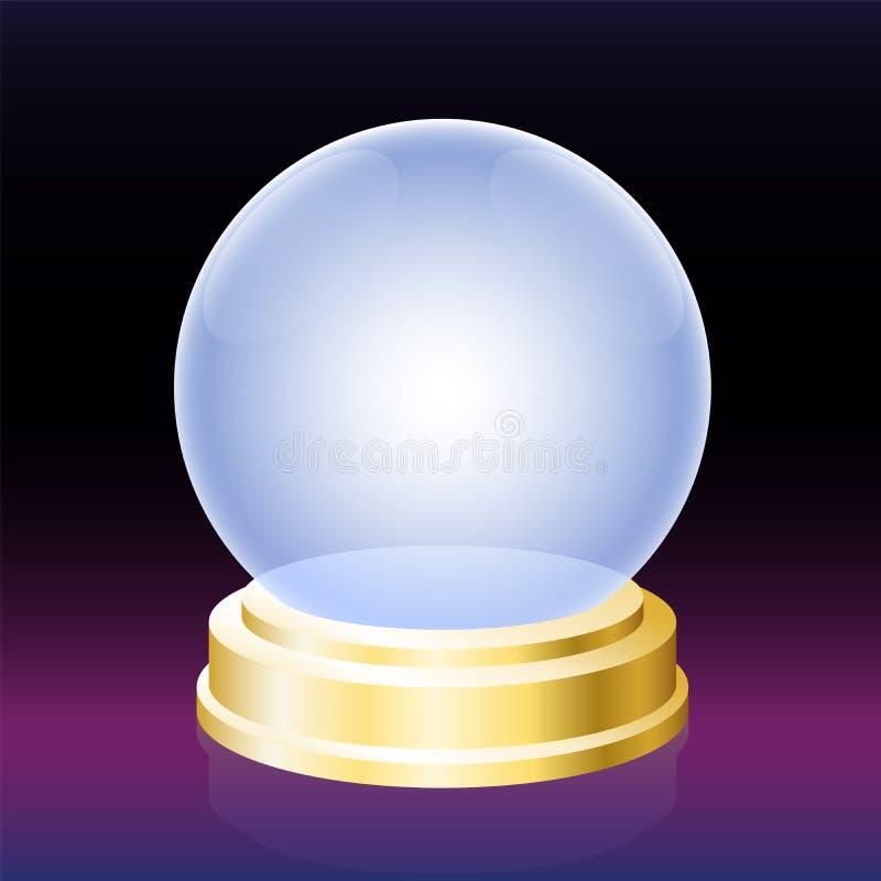 Oracle kryształowa kula royalty ilustracja