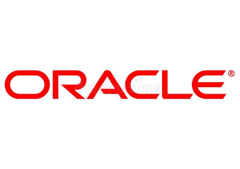 Oracle-Logo stock abbildung
