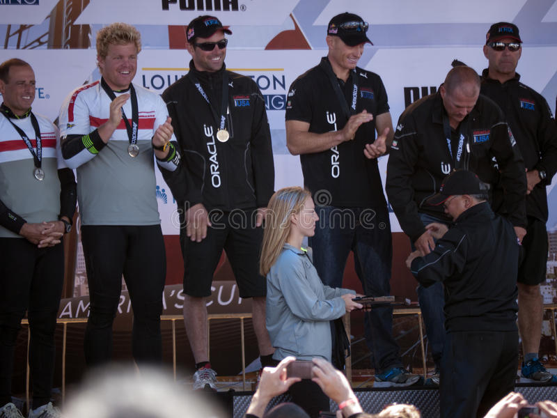 Download Oracle Team Gets Medals From Mayor Ed Lee Editorial Stock Image - Image of medal, mayor: 26320729