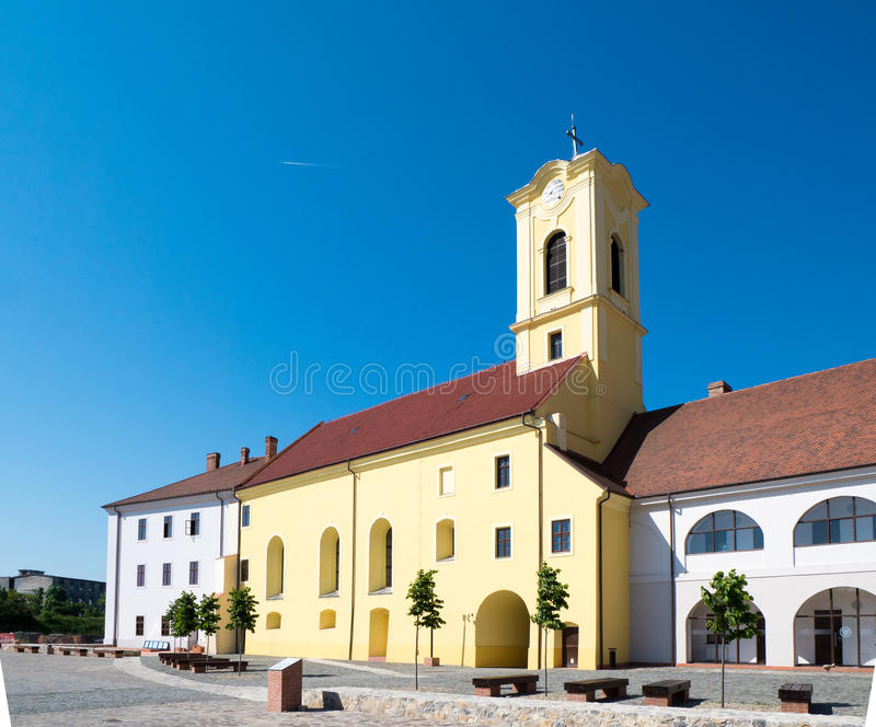 Oradea city center church in old fortress royalty free stock image