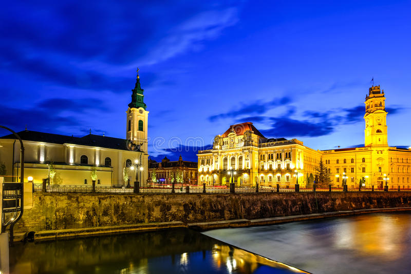 Oradea city, Romania stock images