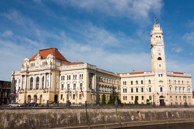 Oradea, construction de la ville hôtel photo stock