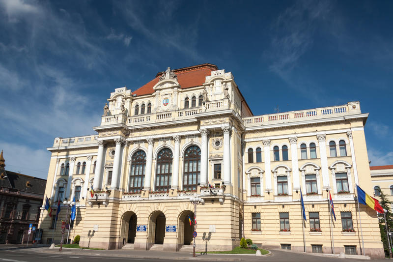 Oradea, construction de la ville hôtel photographie stock