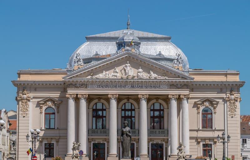 Oradea påstår teatern - Rumänien, den Crisana regionen royaltyfria bilder