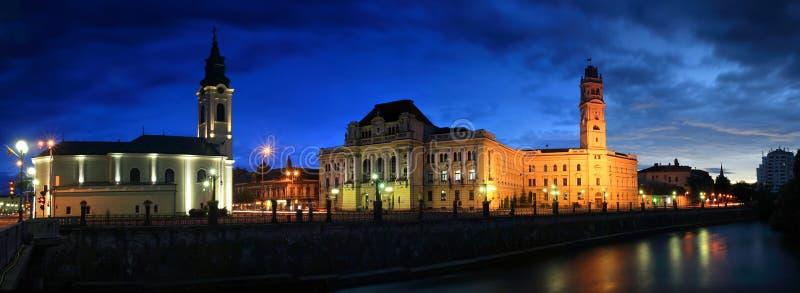 Oradea panorama - Transylvania, Romania royalty free stock photo