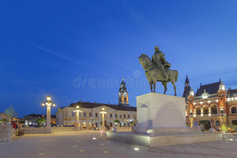 ORADEA, ROUMANIE - VERS 2016 : Plata Urinii, place d'Urinii photo stock