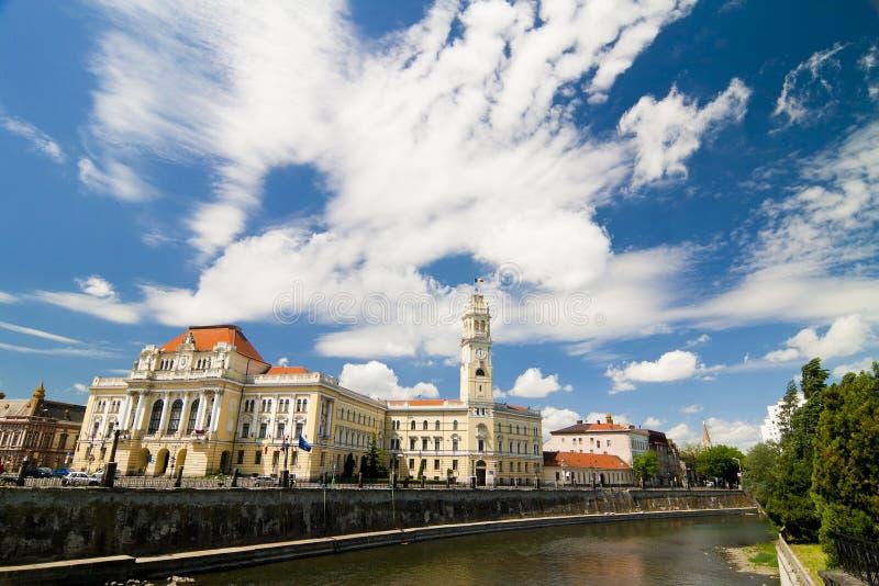 Oradea stadshus arkivfoto