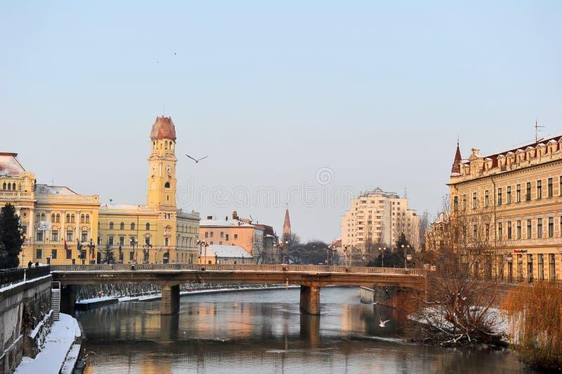 oradearomania town arkivfoto