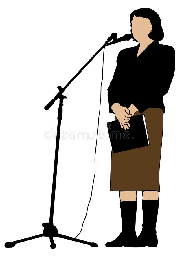 Orador dois da mulher ilustração royalty free