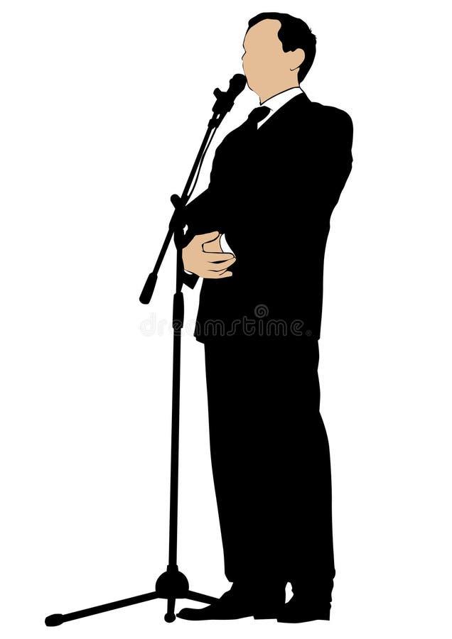 Orador dois do homem ilustração royalty free