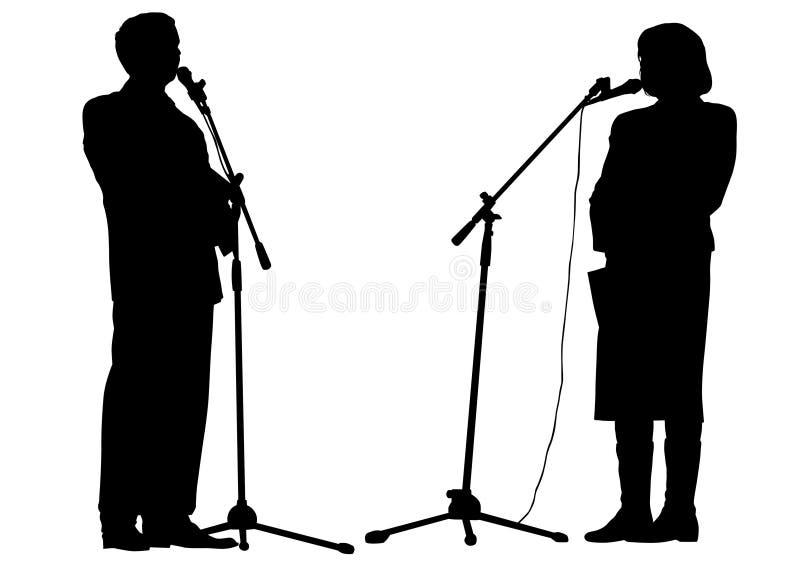 Orador dois dos povos ilustração stock