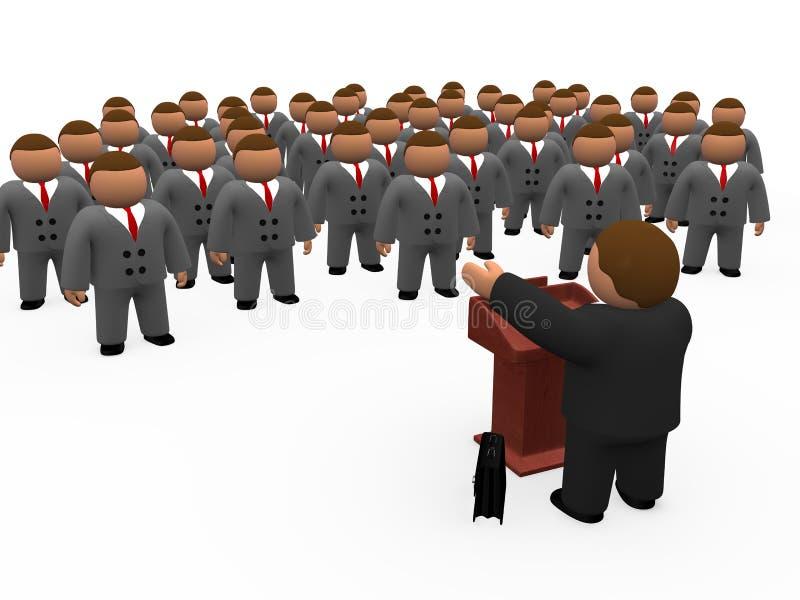 Orador e audiência ilustração do vetor