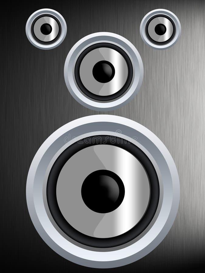 Orador em uma textura de prata do metal fotografia de stock royalty free