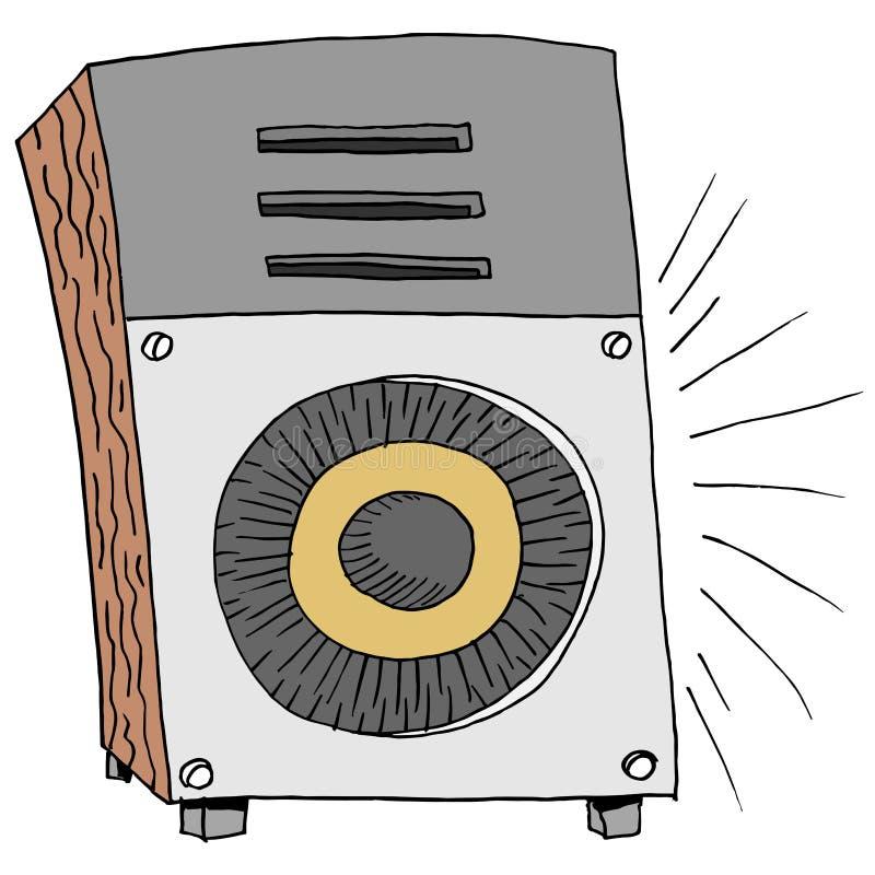 Orador grande da música ilustração royalty free