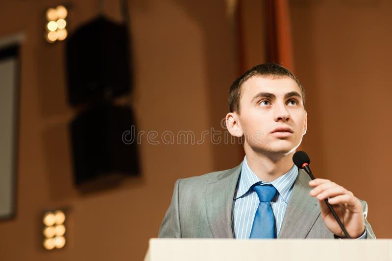 Orador masculino foto de stock royalty free