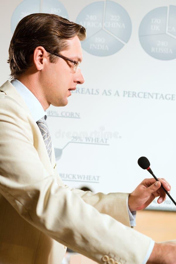 Orador masculino foto de stock