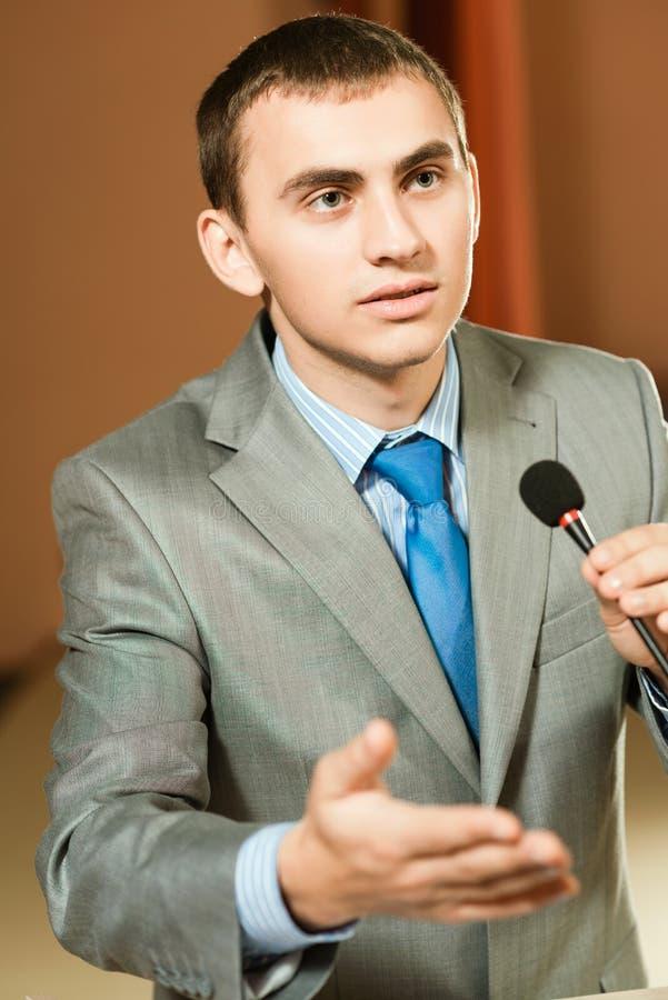 Orador masculino fotografia de stock