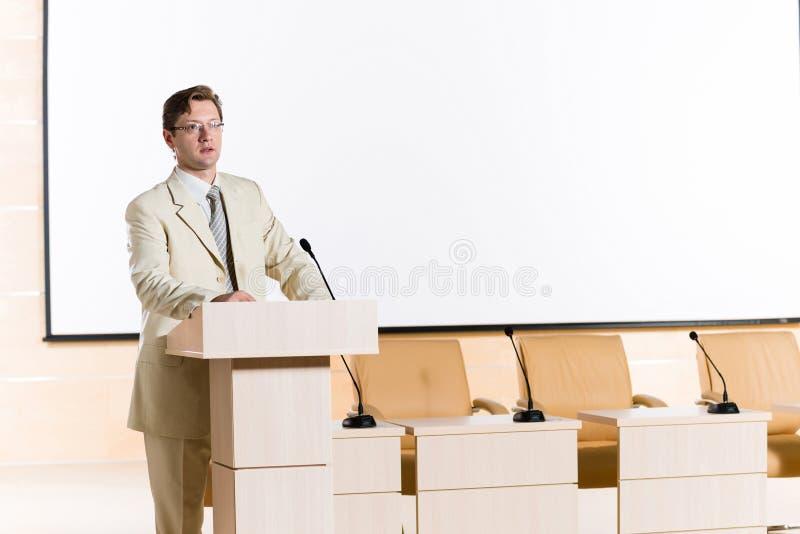 Orador masculino fotos de stock